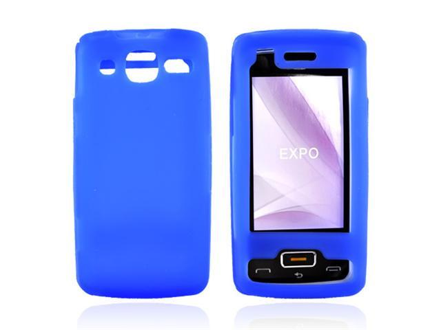 LG eXpo GW820 Silicone Case  Rubber Skin - Blue