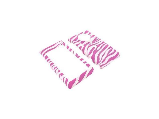 Samsung Memoir T929 Rubberized Plastic Case  - Baby Pink Zebra on White