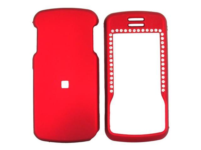 Motorola Debut i856 / Slider i856 Rubberized Hard Plastic Case  - Red