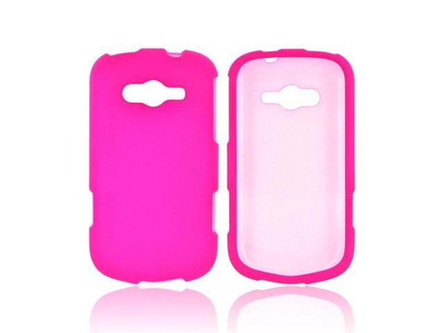 Samsung Galaxy Reverb Rubberized Plastic Snap On Cover - Hot Pink