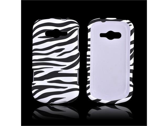 Black/ White Zebra Samsung Galaxy Reverb Rubberized Plastic Snap On Snap On Cover