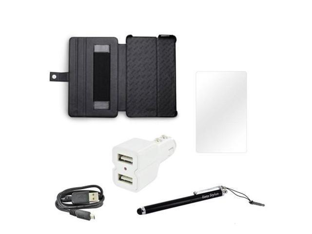 Amazon Kindle Fire Essential Professional Bundle Package w/ Zenus Brown Leather Case Stand, Stylus, Screen