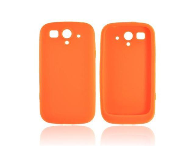 T-mobile Huawei Mytouch 2 Rubbery Soft Silicone Skin Case - Orange