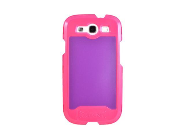 Pink/ Purple OEM Trident Apollo Samsung Galaxy S3 Plastic Snap On Cover W/ Interchangeable Plates & Screen Protector