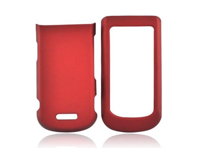 Red Rubberized Hard Plastic Snap On Case Cover For Motorola Bali WX415