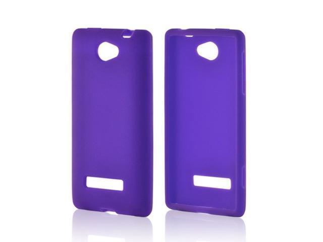 Purple Silicone Case for HTC 8V
