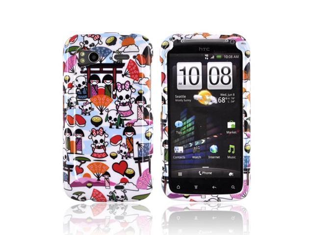Slim & Protective Hard Case for HTC Sensation 4G - Kawaii Baby Skull