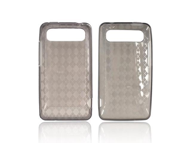 Argyle Smoke TPU Crystal Gel Silicone Case Cover For HTC Vivid