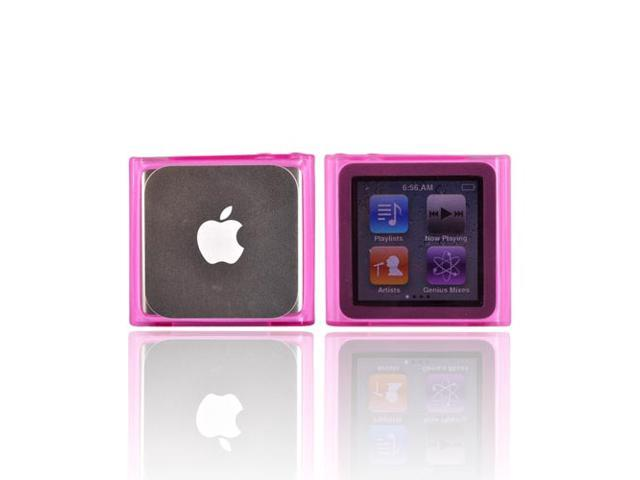 For iPod Nano 6 Silicone Rubber Case Cover HOT PINK