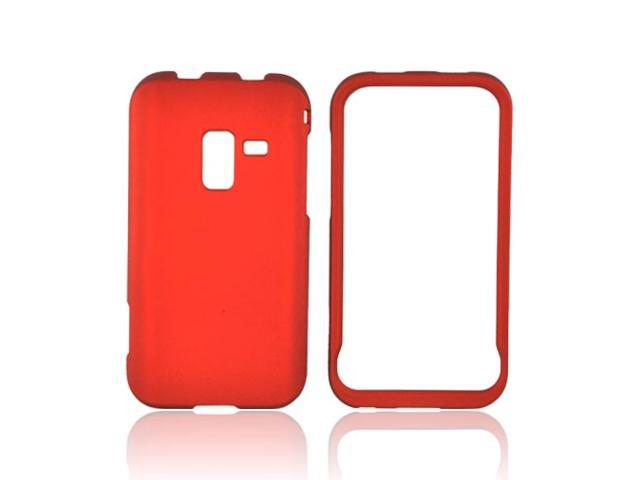 Orange Rubberized Hard Plastic Snap On Case Cover For Samsung Conquer