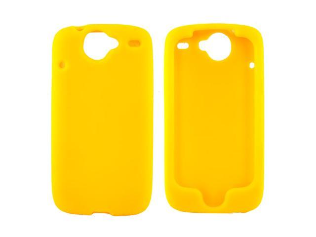 Google Nexus One Rubbery Feel Silicone Skin Case Cover, Rubber Skin - Yellow