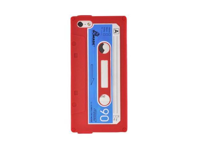 Apple Iphone 5 Silicone Cassette Tape Design Case - Red