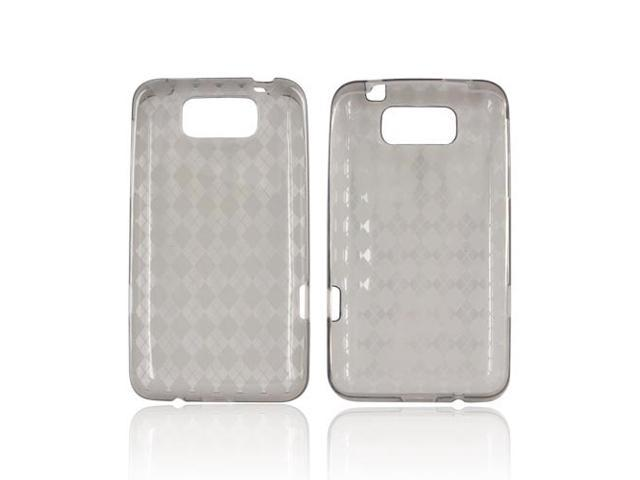 Argyle Smoke TPU Crystal Gel Silicone Case Cover For HTC Titan