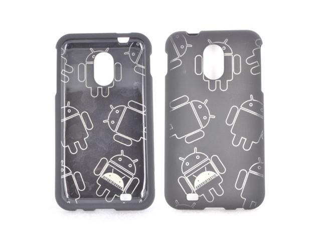 Samsung Epic 4g Touch Rubberized Androitastic Hard Plastic Case Snap On Cover - Black