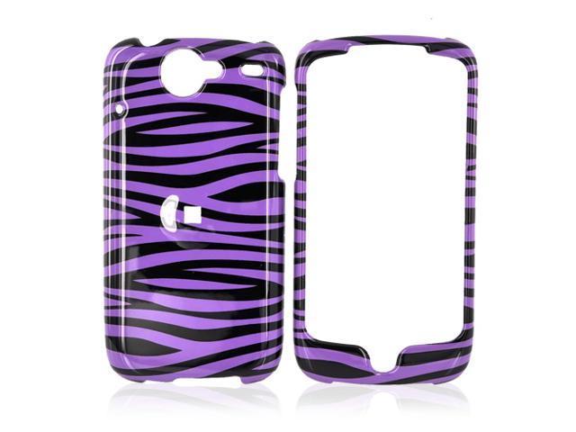 HTC Nexus One Hard Plastic Case - Purple/black Zebra