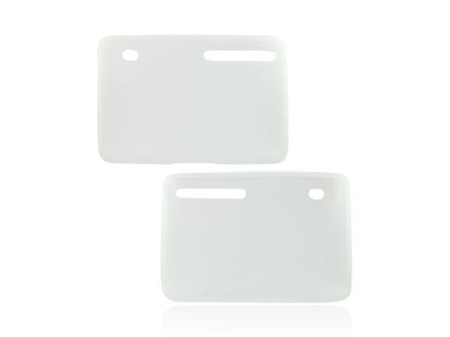 Frost White Rubber Feel Silicone Skin Case Cover For Motorola Xoom