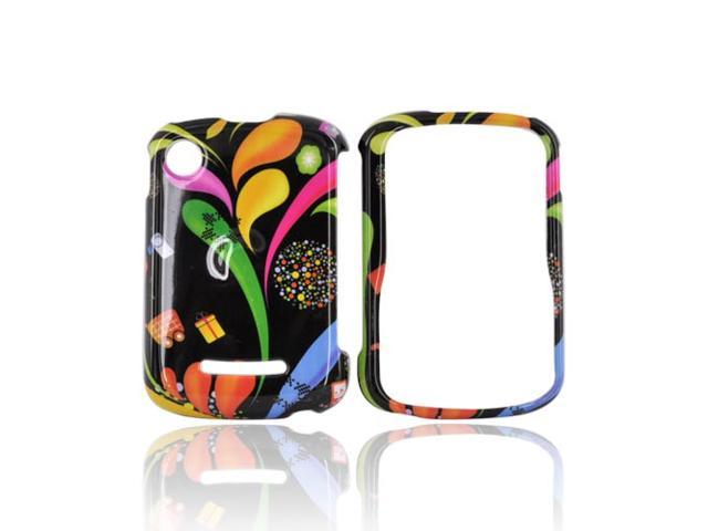 Slim & Protective Hard Case for Motorola QX404 - Colorful Art on Black