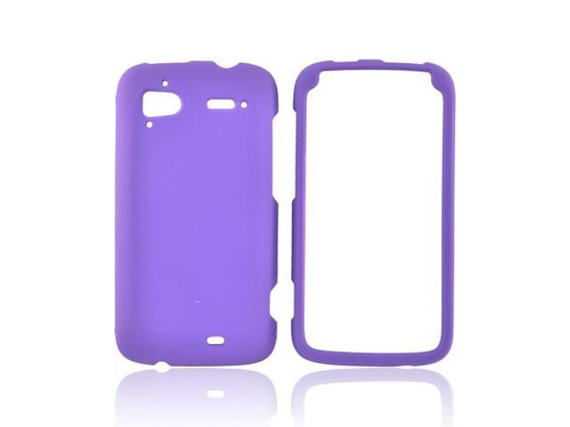 HTC Sensation 4g Rubberized Plastic Case - Purple