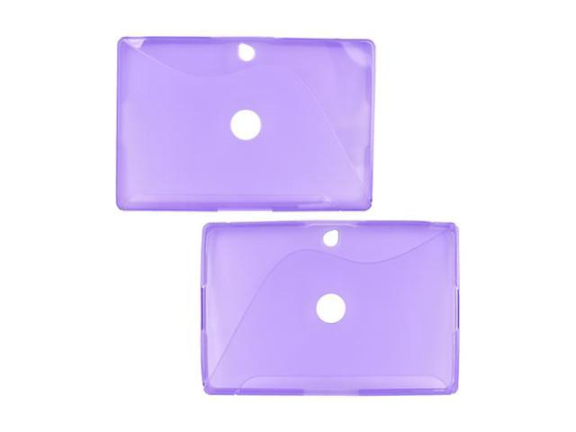 Purple Flexible Hard Crystal TPU Silicone Case Cover For Blackberry PlayBook