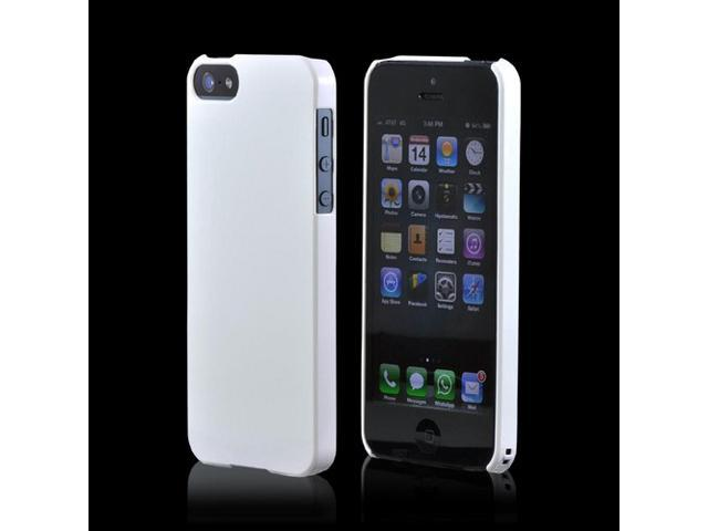 Premium High Impact Resistant Apple iPhone 5 Ultra Slim Rubberized Hard Plastic Snap On Shell Case Cover - Snow White
