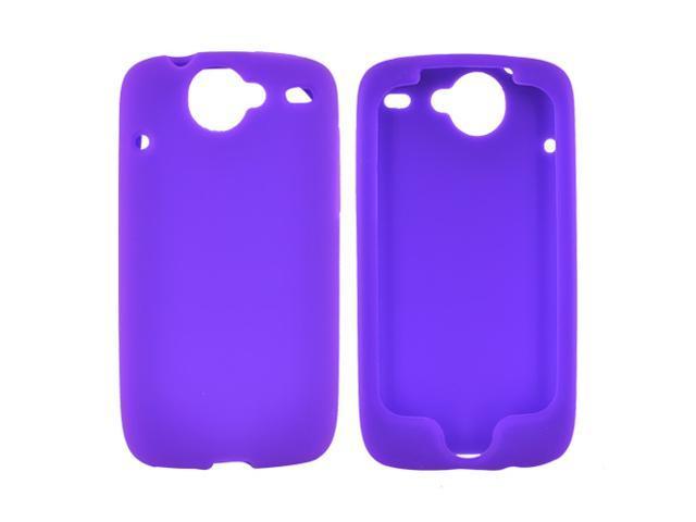 HTC Google Nexus 1 Rubbery Feel Silicone Skin Case Cover, Rubber Skin - Purple
