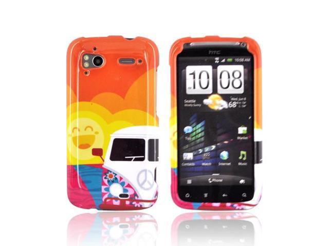 Slim & Protective Hard Case for HTC Sensation 4G - Hippie Van Peace - OEM