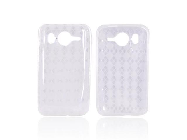 Transparent Clear Argyle Hard Crystal TPU Silicone Case Cover For HTC Inspire 4G