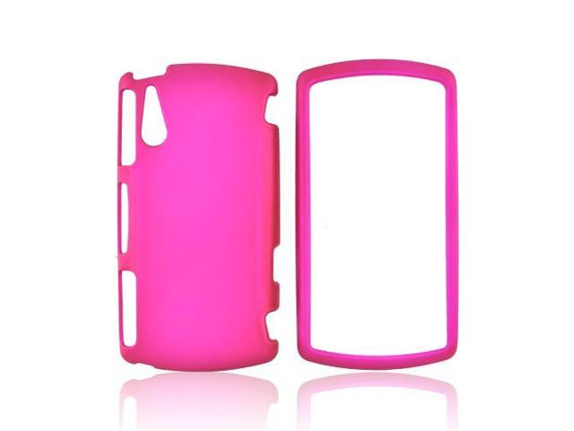 Sony Ericsson Xperia Play Rubberized Plastic Case - Hot Pink