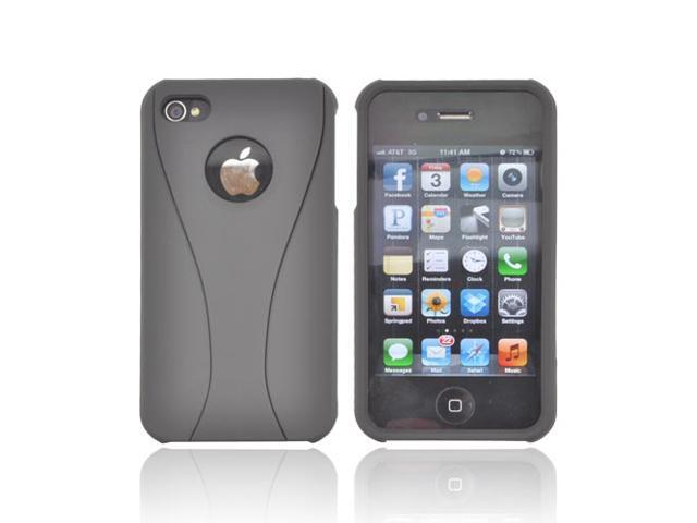 Apple iPhone 4 / 4S Case, [Black] Slim & Protective Rubberized Matte Finish Snap-on Hard Polycarbonate Plastic Case