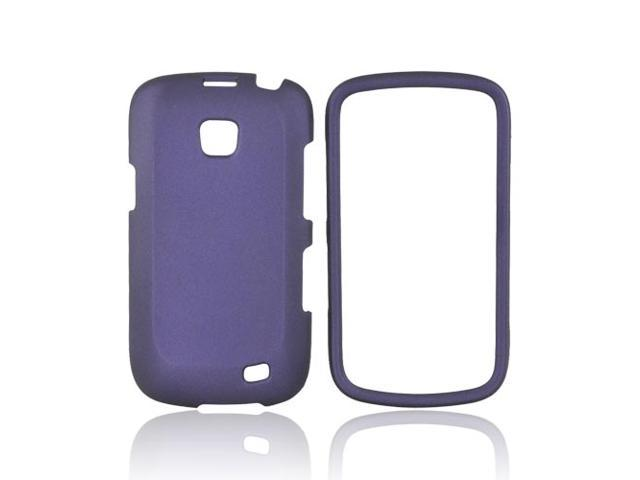 Purple Rubberized Hard Plastic Case Snap On Cover For Samsung Illusion i110