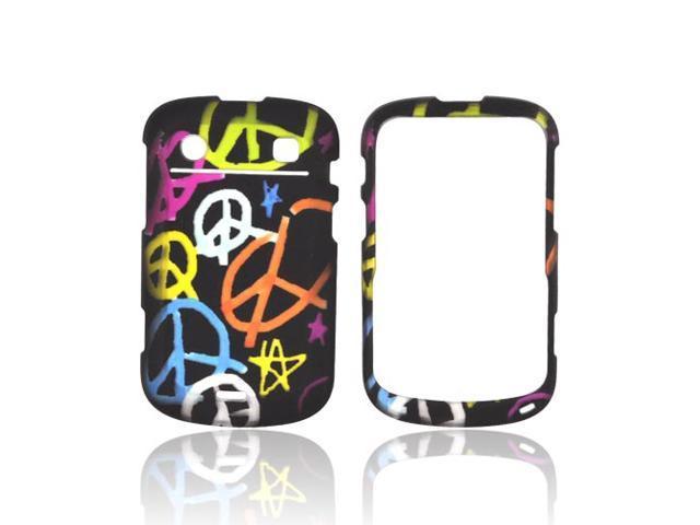 Rainbow Peace Black Hard Plastic Snap Case Cover For Blackberry Bold 9900 9930