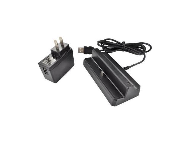 Google Nexus 7 2-in-1 Cradle Desktop Sync N' Charge Charger W/ USB Wall Charger Adapter - Black