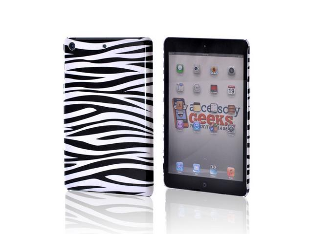 Slim & Protective Hard Case for Apple iPad Mini - Black / White Zebra