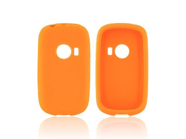 Huawei Comet M835 Rubbery Feel Silicone Skin Case Cover - Orange