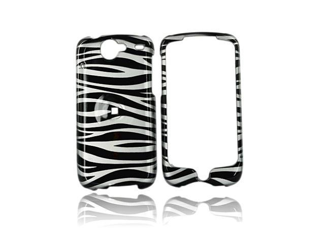 Google Nexus One Hard Plastic Case - Silver/black Zebra
