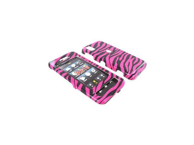 Samsung Finesse R810 Plastic Case  - Hot Pink Zebra
