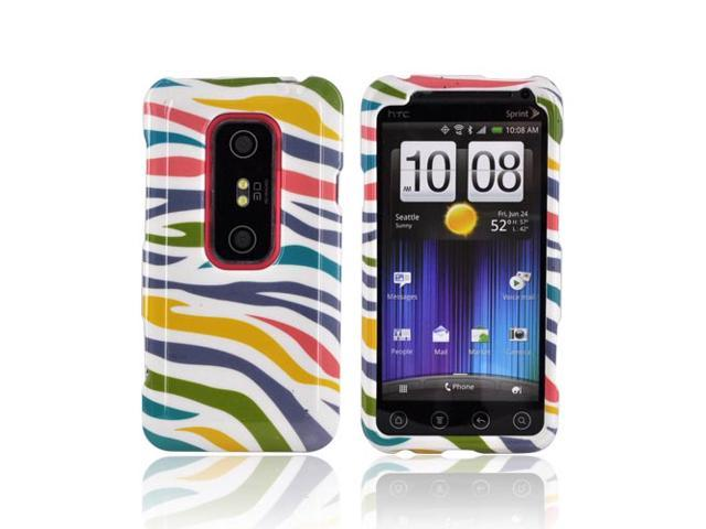 Slim & Protective Hard Case for HTC EVO 3D - Rainbow Zebra