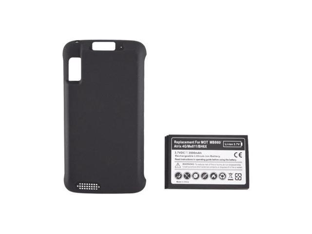 Motorola Atrix 4g Extended Long Life Battery & Door (3500 Mah) - Black