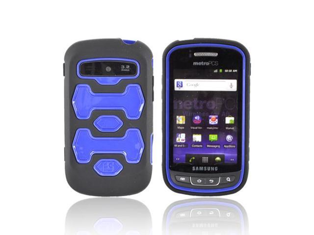 Blue Black Dual Layered Hard Silicone Case Cover For Samsung Rookie R720
