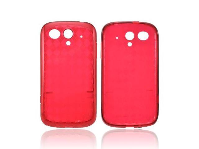 Argyle Red T-Mobile Huawei myTouch 2 Crystal Silicone Case