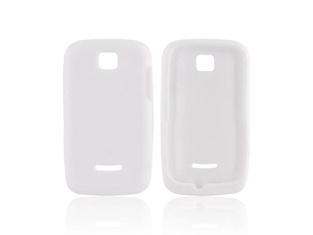 Motorola Theory Rubbery Feel Silicone Skin Case Cover - Solid White