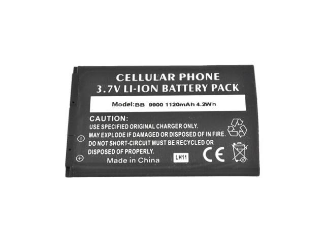 Black Back Up Standard Replacement Battery 1120 Mah For Blackberry Bold 9900, 9930