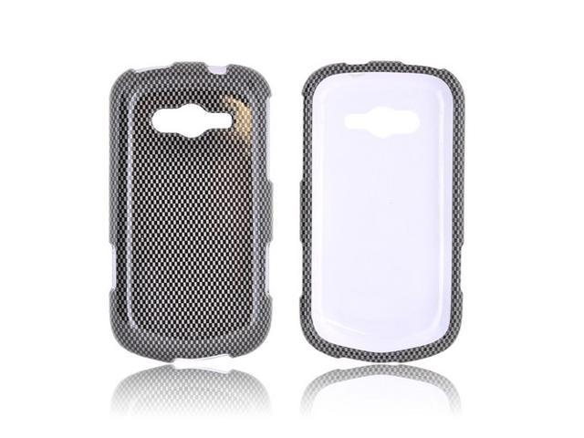 Samsung Galaxy Reverb Case, [Gray Carbon Fiber] Slim & Protective Crystal Glossy Snap-on Hard Polycarbonate Plastic Case