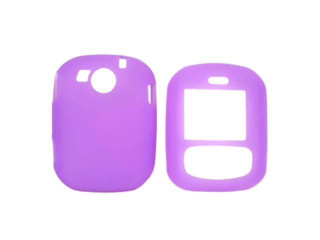 PCD Cricket TXTM8 Leathery Texture Silicone Case  Rubber Skin - Purple