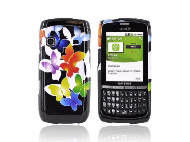 Samsung Replenish Case, [Rainbow Butterflies] Slim & Protective Crystal Glossy Snap-on Hard Polycarbonate Plastic Case