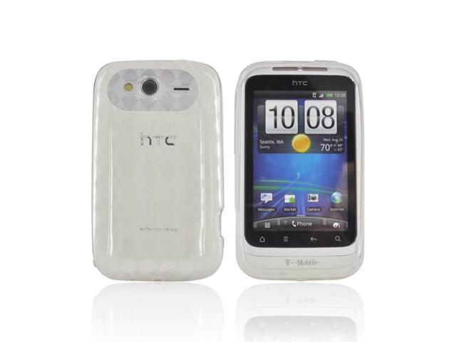 HTC Wildfire S Case, [Clear] Slim & Flexible Anti-shock Crystal Silicone Protective TPU Gel Skin Case Cover