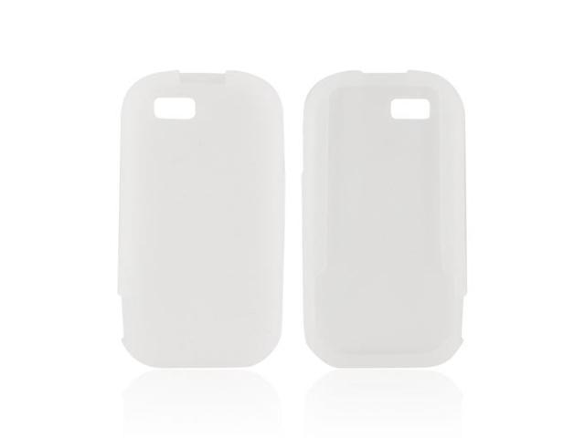 Frost White Rubber Feel Silicone Skin Case Cover For Motorola TITANIUM