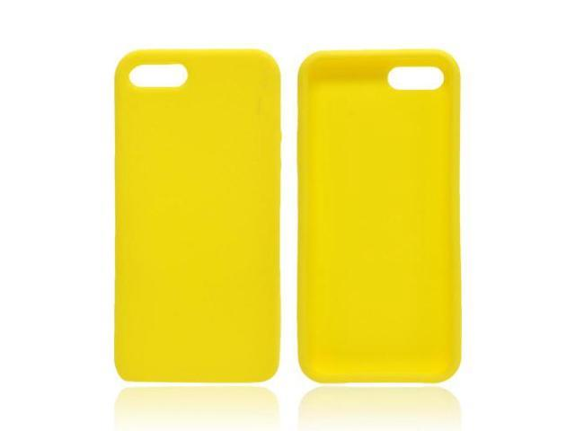 Apple Iphone 5 Rubbery Feel Silicone Skin Case Cover - Yellow