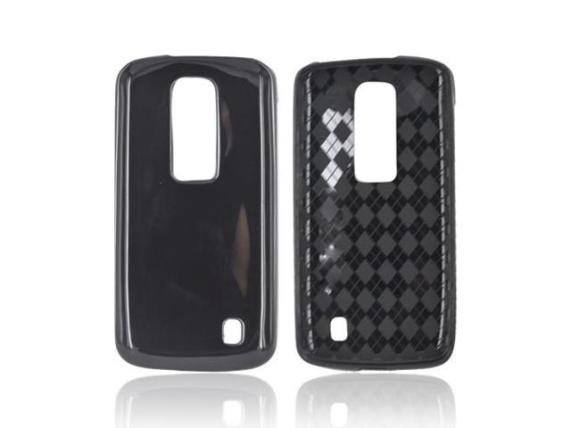 Black Argyle Interior TPU Crystal Gel Silicone Case Cover For LG Nitro HD