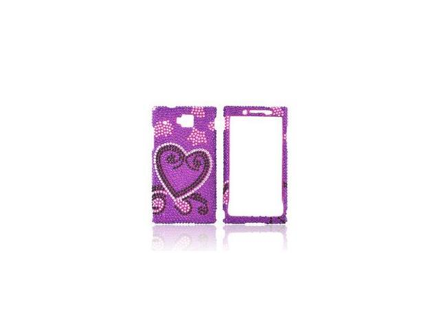 Purple Pink Heart Star Bling Hard Plastic Snap On Case Cover For Huawei Ideos X6